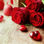 Roses and hearts.